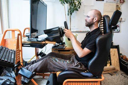 Sitzposition nach dem Umbau